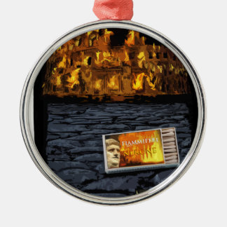 Nero burning Rome, with matches.. Christmas Ornament