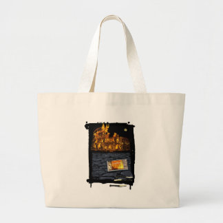 Nero burning Rome, with matches.. Large Tote Bag