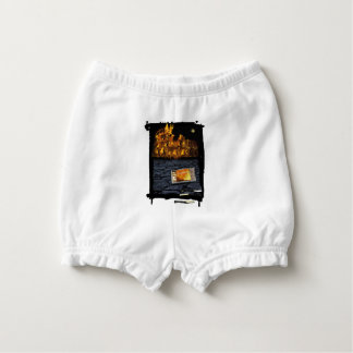 Nero burning Rome, with matches.. Nappy Cover