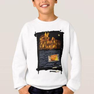 Nero burning Rome, with matches.. Sweatshirt
