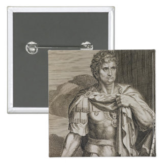 Nero Claudius Caesar Emperor of Rome 54-68 AD engr 15 Cm Square Badge