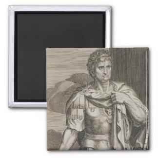 Nero Claudius Caesar Emperor of Rome 54-68 AD engr Square Magnet