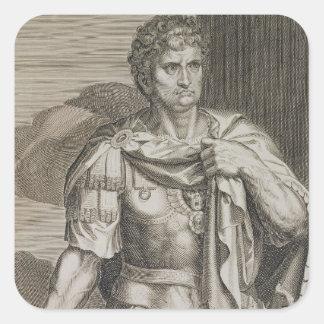 Nero Claudius Caesar Emperor of Rome 54-68 AD engr Square Sticker