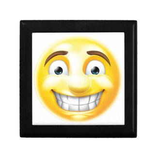 Nervous Grin Emoji Emoticon Gift Box