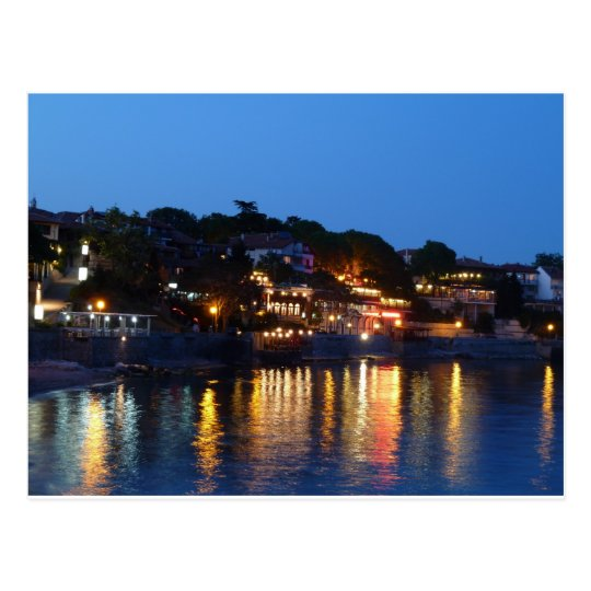 Nessebar Night Postcard