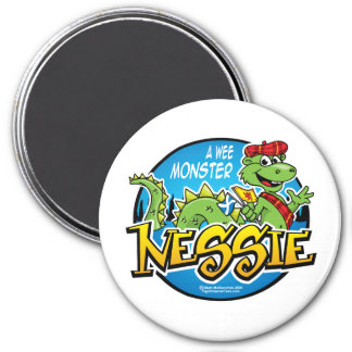 Nessie: A Wee Monster 7.5 Cm Round Magnet