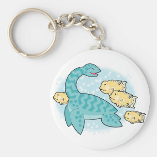 nessie and friends basic round button key ring