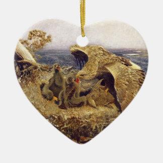 Nest of sea washi ceramic heart decoration