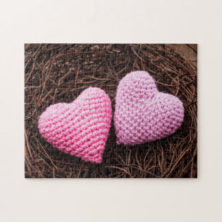Nest With Hearts Jigsaw Puzzles
