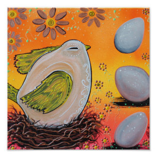 Nesting Bird Poster