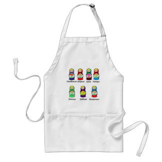 Nesting Dolls Day of the Week Adult Apron