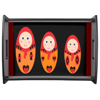 Nesting Dolls Large Serving Tray