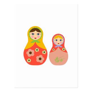 Nesting Dolls Postcard
