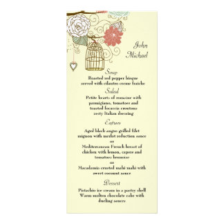 Nesting Floral Menu Card Customised Rack Card