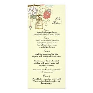 Nesting Floral Menu Card Customised Rack Card