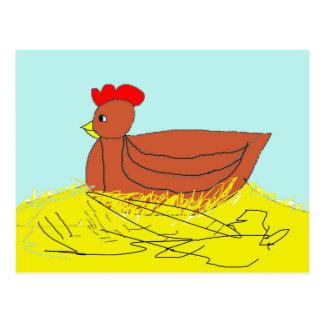 Nesting Hen Postcard