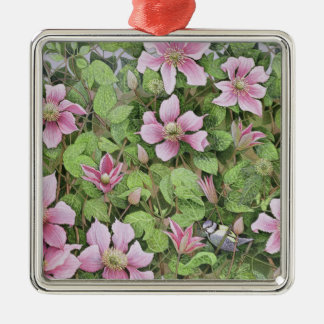 Nesting in Clematis Christmas Ornament