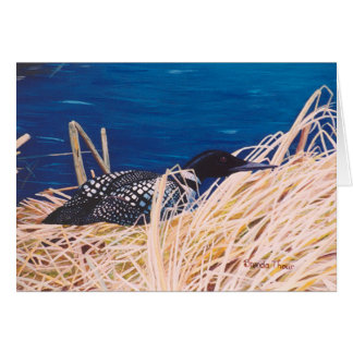 Nesting Loon Card