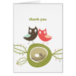 Nesting Owl Family Couple's Baby Shower Thank You