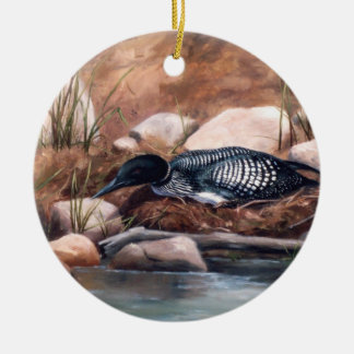 Nesting Time Loon Ornament