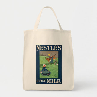 Nestle's Swiss Milk organic grocery tote Grocery Tote Bag