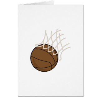 Net and Basketball Greeting Card
