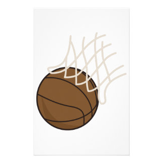 Net and Basketball Personalized Stationery