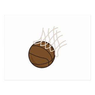 Net and Basketball Postcard