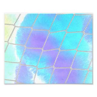 Net background with light blue art photo