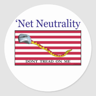 Net Neutrality - Don't Tread On Me Stickers