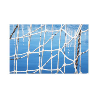 net on blue sea canvas print