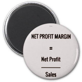 """Net Profit Margin"" 6 Cm Round Magnet"