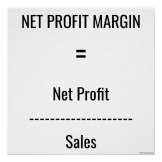 """Net Profit Margin"" Poster"