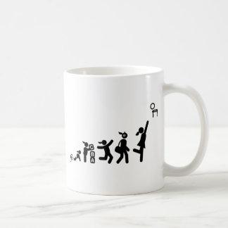 Netball Basic White Mug