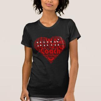 Netball Coach Heart Design T-Shirt