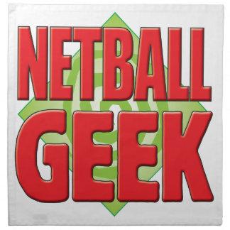 Netball Geek v2 Printed Napkins