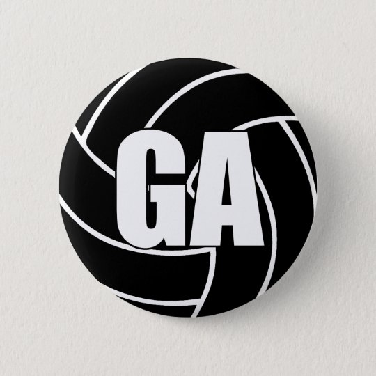 Netball Goal Attack GA 6 Cm Round Badge