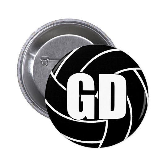 Netball Goal Defence GD 6 Cm Round Badge