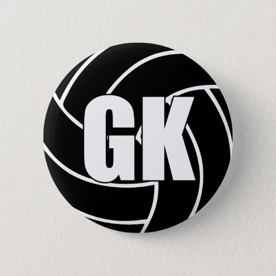 Netball Goal Keeper GK 6 Cm Round Badge