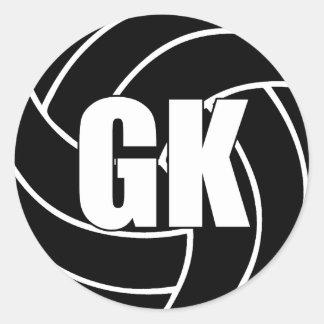 Netball Goal Keeper, GK, Netball Team Stickers