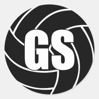 Netball Goal Shooter, GS, Netball Team Stickers