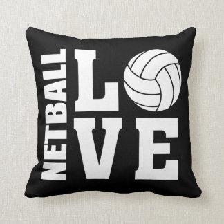 Netball Love Black Netball Cushion