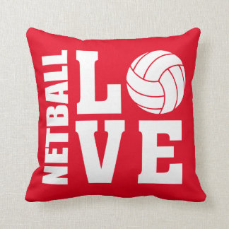 Netball Love Red Netball Cushion