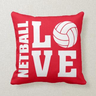 Netball Love Red Netball Cushion
