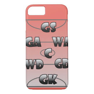 Netball Player Positions Custom Colour iPhone 8/7 Case
