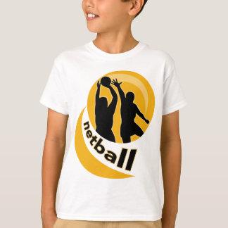 Netball player shooting blocking the shot shirt