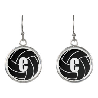 Netball Players Position, Center C Earrings