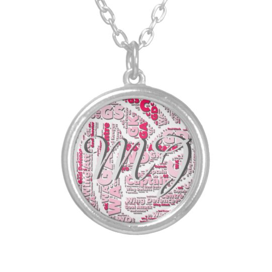 Netball Positions Ball Design With Monogram Silver Plated