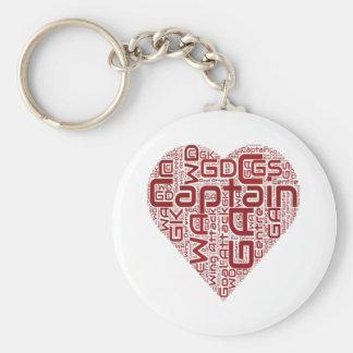 Netball Positions Heart Design Key Ring