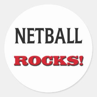 Netball Rocks Classic Round Sticker